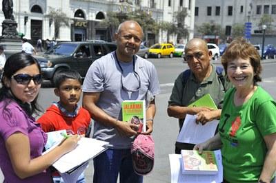 Buchverkauf in Lima