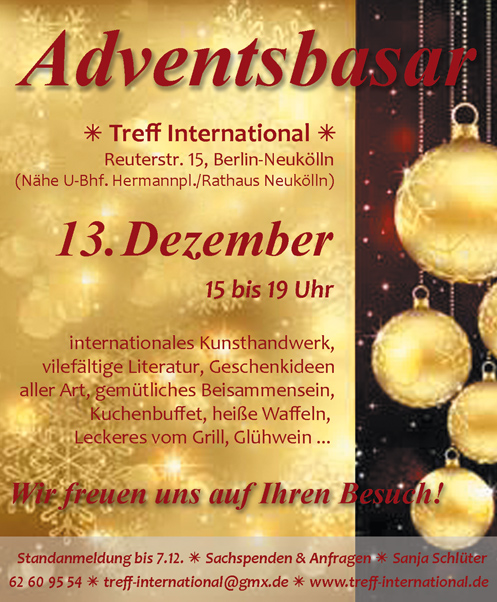 Adventsbasar 2014 Berlin