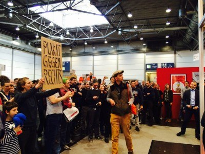 Protest Leipziger Buchmesse 2017